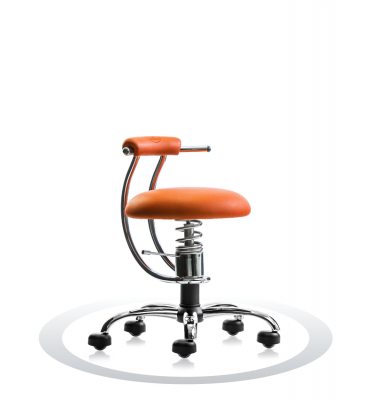 SpinaliS office chair - Smart orange  R201 (Renna), chrome frame