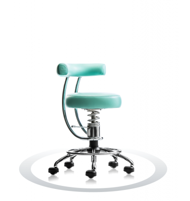 SpinaliS pisarniški stol - Dent light green P518 (Polaris), chrome frame