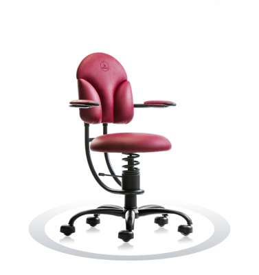 SpinaliS office chair - Basic burgundy red R304 (Renna), black frame