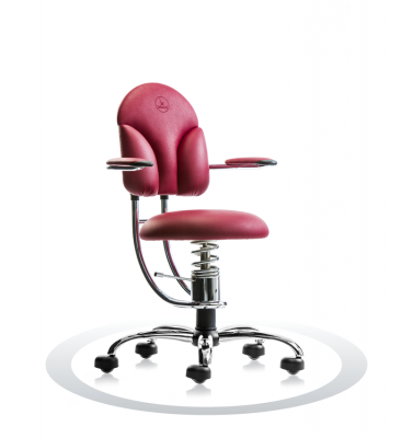 SpinaliS office chair - Basic burgundy red R304 (Renna), chrome frame