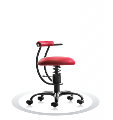 SpinaliS office chair - Smart red  R303 (Renna), black frame