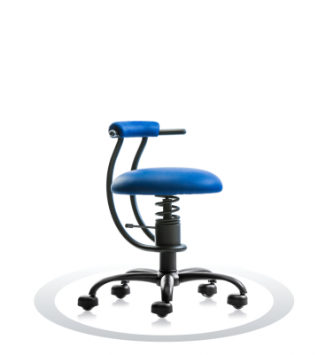 SpinaliS office chair - Smart royal blue  R502 (Renna), black frame