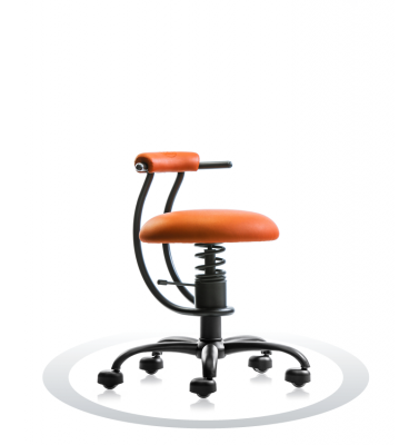 SpinaliS office chair - Smart orange  R201 (Renna), black frame