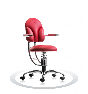 SpinaliS office chair - Basic red  R303 (Renna), chrome frame