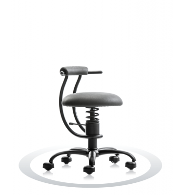 SpinaliS office chair - Smart grey  R711 (Dollarone), black frame