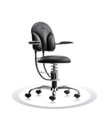 SpinaliS office chair - Basic black  R904 (Renna), chrome frame