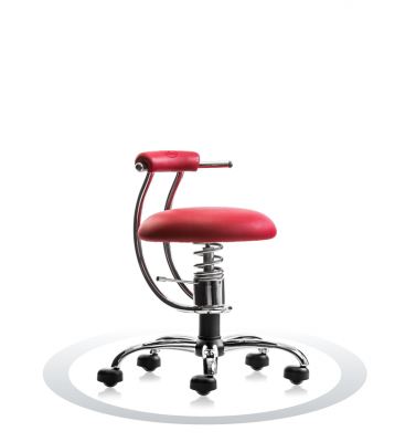 SpinaliS office chair - Smart red  R303 (Renna), chrome frame