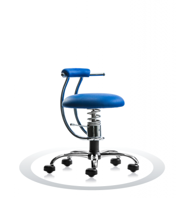 SpinaliS office chair - Smart royal blue  R502 (Renna), chrome frame