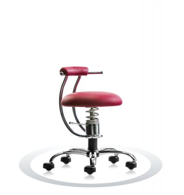 SpinaliS office chair - Smart burgundy red R304 (Renna), chrome frame