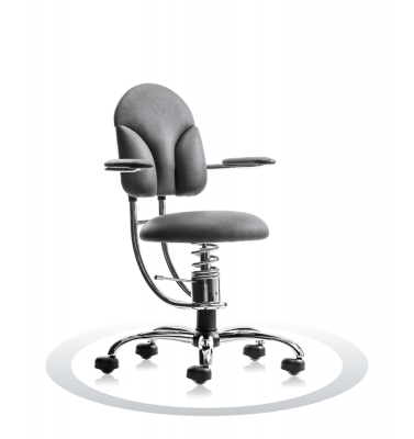 SpinaliS office chair - Basic grey  R711 (Renna), chrome frame