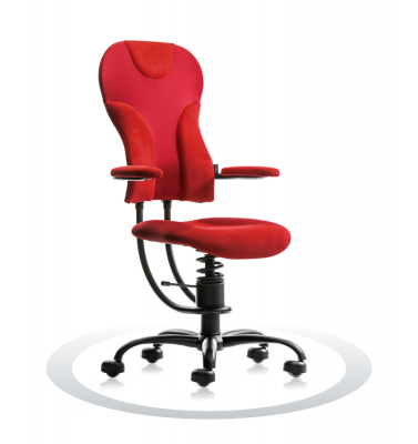 SpinaliS office chair - Spider red  A302 (Alcantara, Newtex), black frame