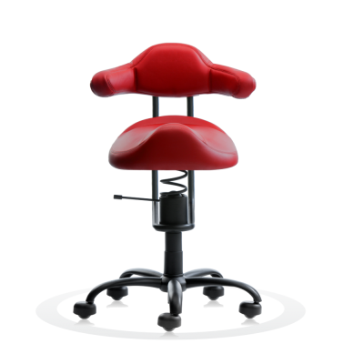 SpinaliS office chair – RODEO – red D327  (Dynamica)