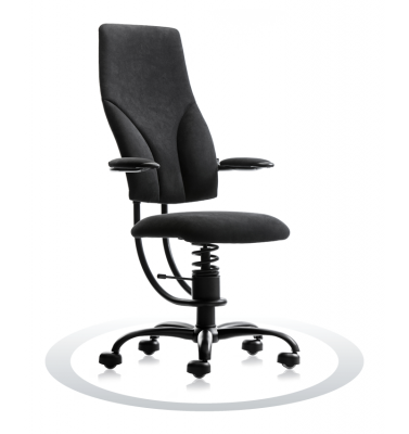 SpinaliS office chair - Navigator black  D904 (Dynamica), black frame