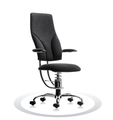 SpinaliS office chair - Navigator black  D904 (Dynamica), chrome frame