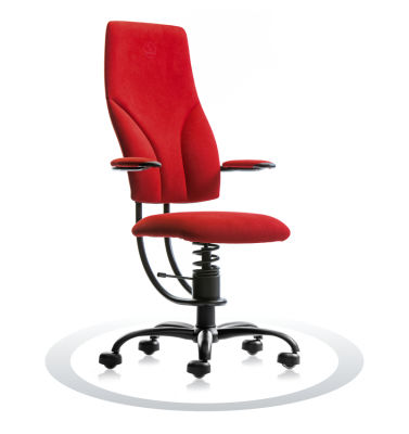 SpinaliS office chair - Navigator red  D327 (Dynamica), black frame