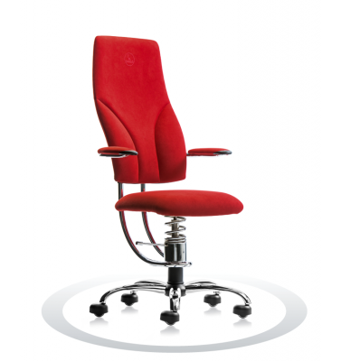 SpinaliS office chair - Navigator red  D327 (Dynamica), chrome frame
