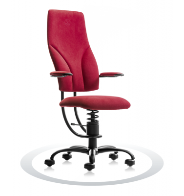 SpinaliS office chair - Navigator burgundy red D402 (Dynamica), black frame