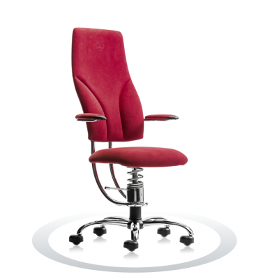 SpinaliS office chair - Navigator burgundy red D402 (Dynamica), chrome frame