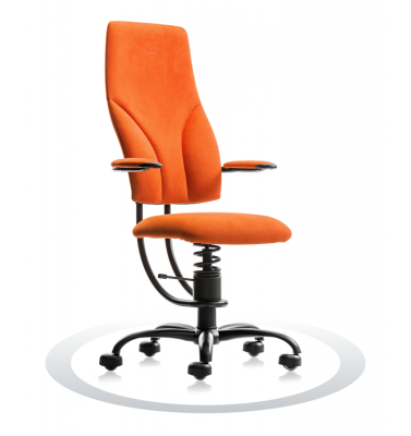 SpinaliS office chair - Navigator orange  D203 (Dynamica), black frame