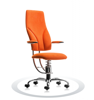 SpinaliS office chair - Navigator orange  D203 (Dynamica), chrome frame