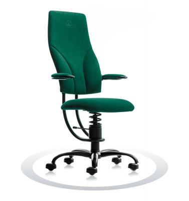 SpinaliS office chair - Navigator dark green  D605 (Dynamica), black frame