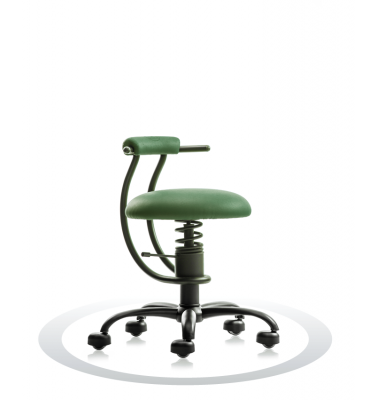 SpinaliS office chair - Smart dark green  R604 (Renna), black frame