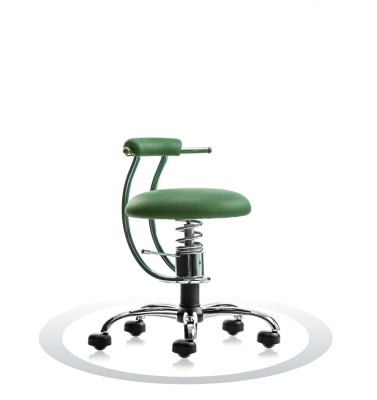 SpinaliS office chair - Smart dark green  R604 (Dollarone), chrome frame