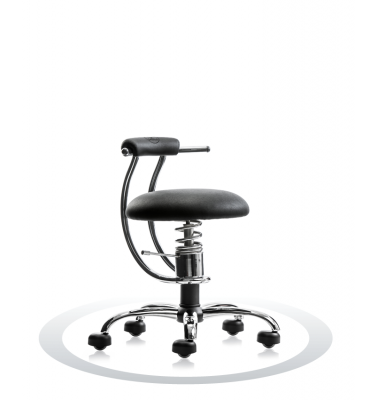 SpinaliS office chair - Smart black  R904 (Dollarone), chrome frame