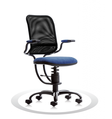 SpinaliS office chair - Ergonomic dark blue  K510 (Kissme), black frame, black net